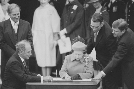 Signing of the Constitution,  April 17, 1982