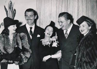 At the premiere, from left:  Vivian Leigh, Clark Gable, Margaret Mitchell, David O. Selznick and Olivia de Havilland