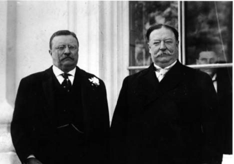 Roosevelt and Taft, sometime BFFs