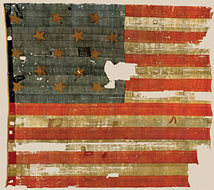 The 15-stripe, 15-star flag that inspired Francis Scott Key to write the national anthem, now in Smithsonian's National Museum of American History