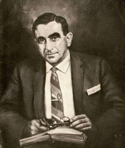 Portrait of Edward Teller created by Dmitri Vail  from the cover of SCALACS (Southern California Section of the American Chemical Society), June 1965.