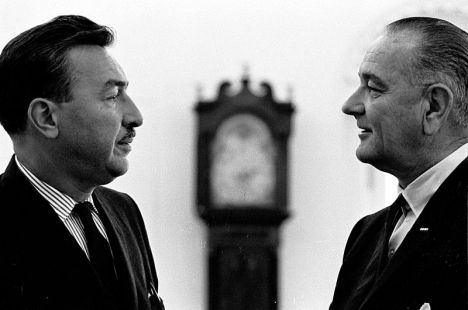 Congressman Adam Clayton Powell, Jr. of New York meeting with President Lyndon B. Johnson in 1965 in the Oval Office