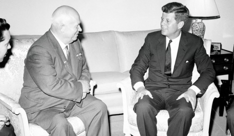 Summit Meeting between Nikita Khrushchev and John Kennedy in Vienna in June, 1961