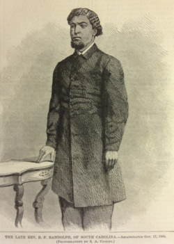 Benjamin F. Randolph, Harper's Weekly, October 25, 1868