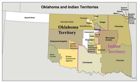 Oklahoma and Indian Territories 1890