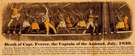 1840 engraving depicting the Amistad revolt