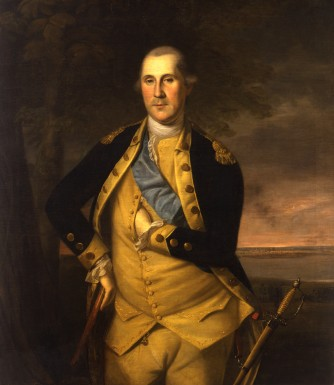 President George Washington here seen as Major General and Commander-in-Chief of the Continental Army