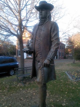 9-foot-1 statue in New Castle Honoring the Livery of  Seisin