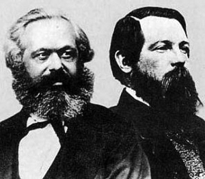 Karl Marx and Friedrich Engels, authors of The Communist Manifesto