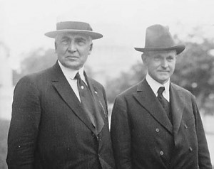 Warren G. Harding and Calvin Coolidge