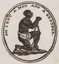 Example of inflammatory abolitionist image
