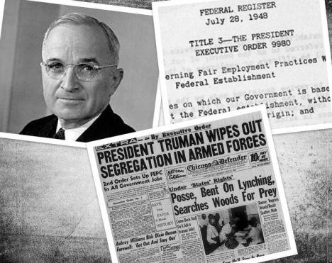 Image result for president truman orders desegregation of armed forces 1948
