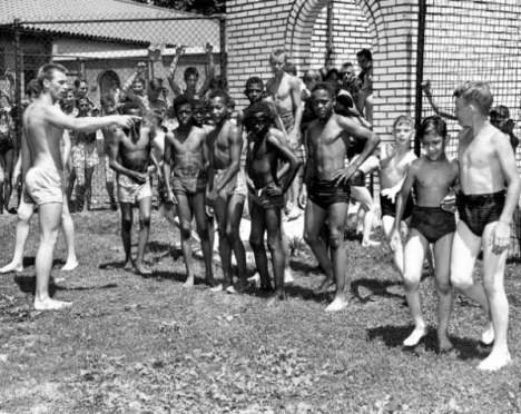 African-American and Caucasian Children at Fairground Swimming Pool, June 21, 1949 – courtesy Missouri Digital Heritage