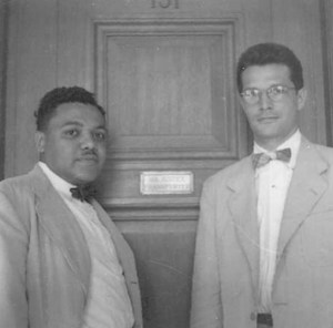 During October Term 1948, Coleman shared his clerking duties with fellow Harvard Law School graduate Elliot Richard- son (right)