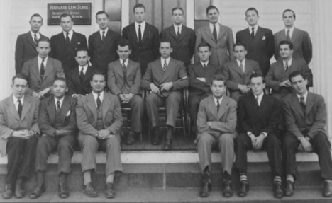 In 1941, Coleman's high grades (he was second in his first-year class)won him a position on  the staff of the Harvard Law Review. Coleman (second from bottom left) was only the third black man to serve on the Law Review