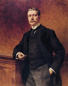 Théobald Chartran's portrait of Elihu Root was painted in 1903, as Root served as what was then secretary of war under President Theodore Roosevelt.