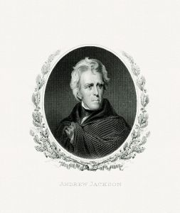 Engraved portrait of Andrew Jackson as President