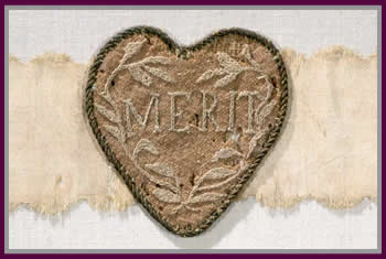 The Badge of Military Merit circa 1783 Image copyright: New York State Office of Parks, Recreation and Historic Preservation