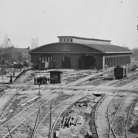 Atlanta's train depot before the arrival of Sherman's Army