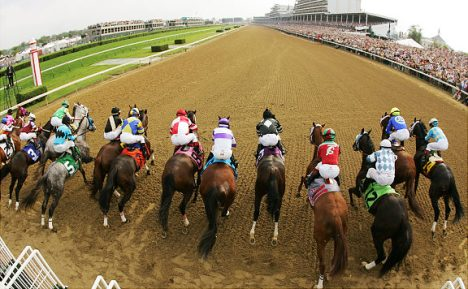 Horses leave the starting gate for the start of the 133rd Kentucky Derby at Churchill Downs in Louisville, Ky., Saturday, May 5, 2007. (AP Photo/Rob Carr)