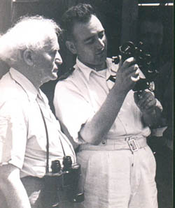 Shulman with Ben-Gurion, at left