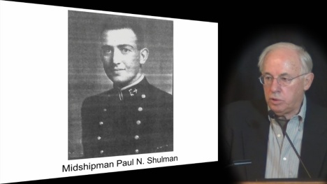 Naval historian J. Wandres discusses his book, Ablest Navigator: Lieutenant Paul N. Shulman USN, Israel's Volunteer Admiral in 2012