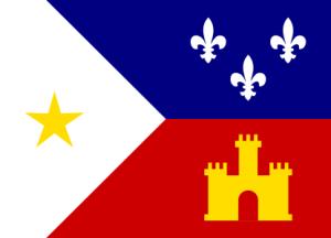 Flag of the Acadiana region of Louisiana