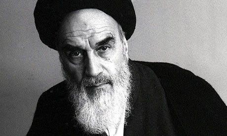 Portrait Of Ayatollah Khomeini taken in Paris, shortly before the 1979 revolution. Photograph: Denis Cameron/Rex Features