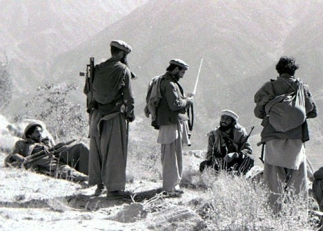 Mujahideen fighters in the Kunar Province of Afghanistan in 1987