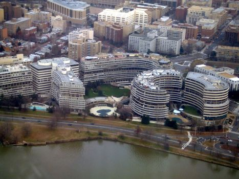 The Watergate Complex from the air