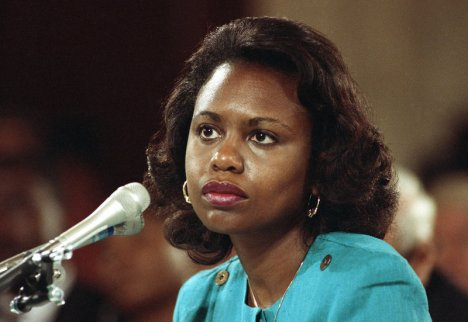 University of Oklahoma law professor Anita Hill testifies before the Senate Judiciary Committee on Capitol Hill in 1991. AP