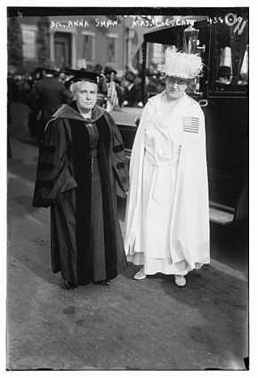 Anna Howard Shaw with Carrie Chapman Catt in 1917