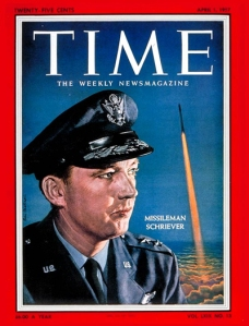 Maj. Gen. Bernard Schriever on the cover of Time Magazine,  Apr. 1, 1957