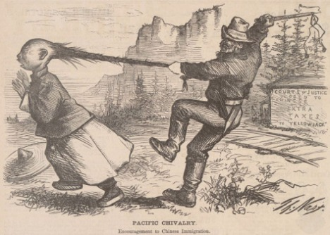 Pacific Chivalry, Harper's Weekly, 7 August, 1869 by Thomas Nast