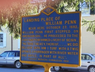 Landing Place of William Penn Marker