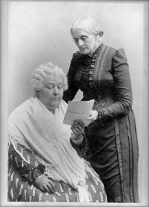 Elizabeth Cady Stanton, seated, and Susan B. Anthony, standing c. 1880-1902 Library of Congress