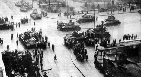 Soviet tanks in Budapest, 1956