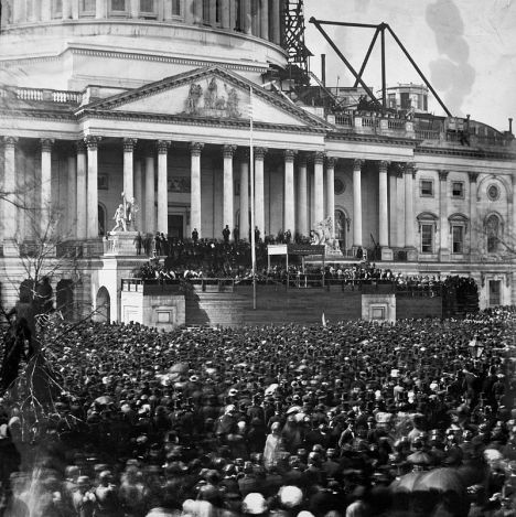 Photo from Lincoln's first inauguration