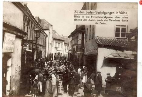 One of two ghettos for Jews established by the Nazis in Vilna